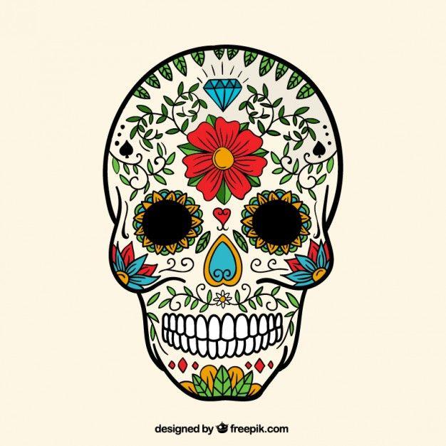 calaveras mexicanas bordadas  Buscar con Google  Calaveras Skull