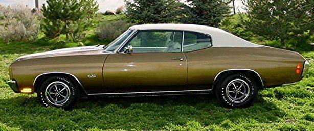 58 A Autumn Gold White Vinyl Top Muscle Cars Camaro Chevelle 1970 Chevelle