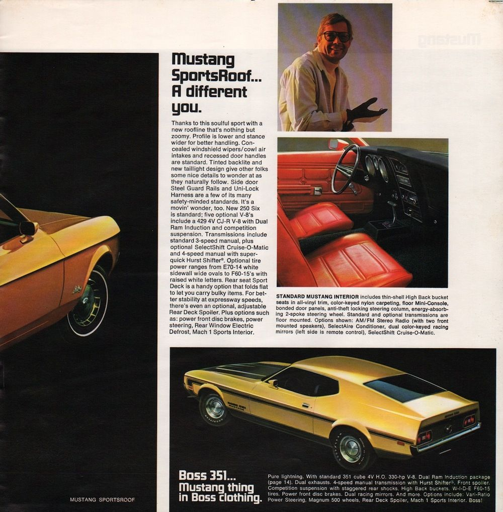 Ford 1971 Mustang Sales Brochure Mustang Pretty Cars Ford Mustang 1964