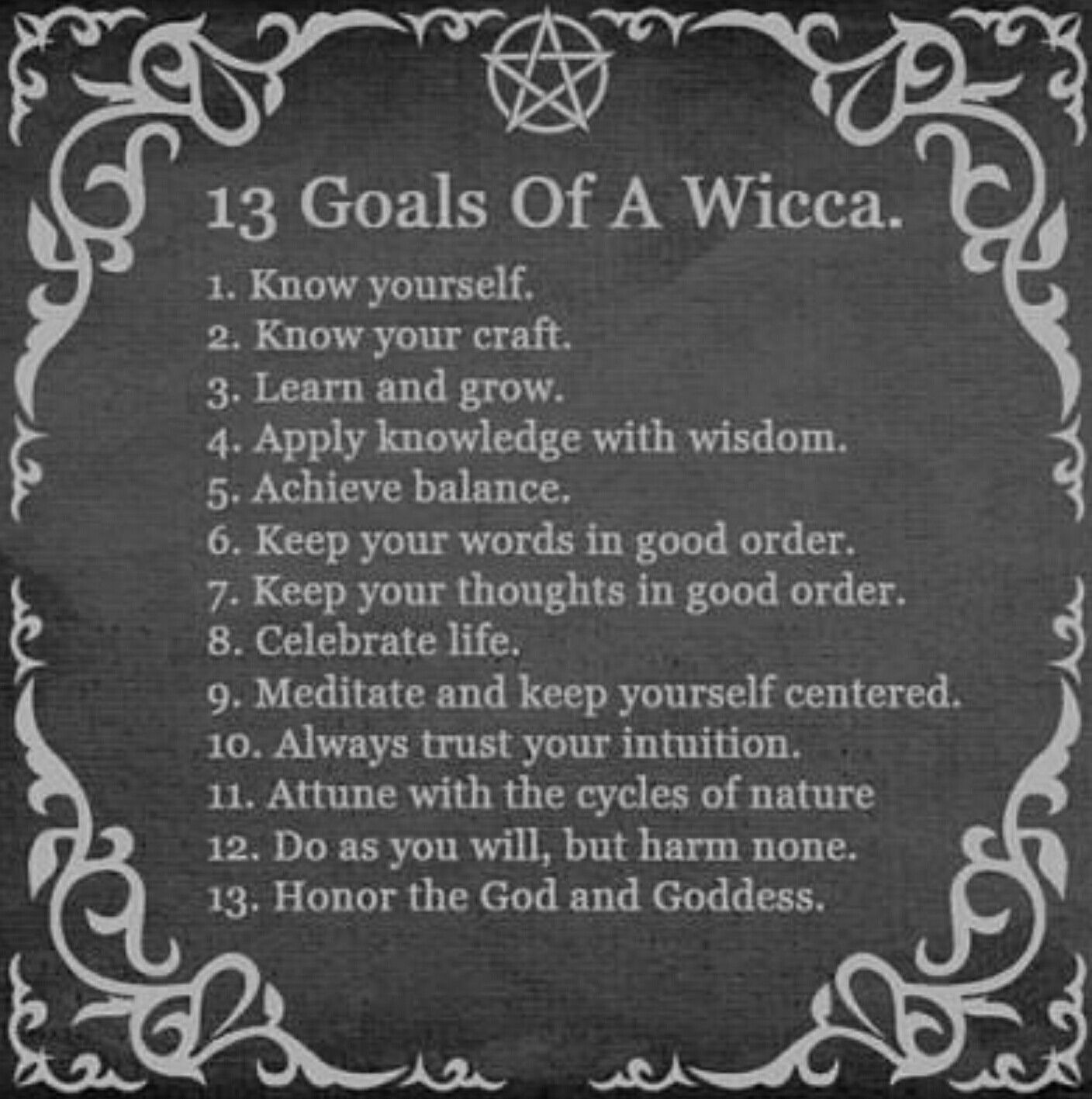 13 Goals of Wicca