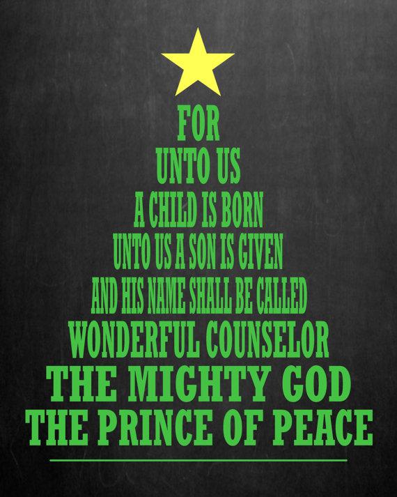 stunning Christmas Church Bulletin Ideas Part - 12: For Unto Us a Child Is Born Christmas Chalkboard by MMasonDesigns, $10.00
