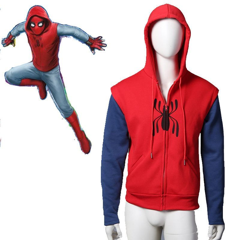 Spider-Man:Homecoming Spiderman Coat Jacket Cosplay Costume Halloween