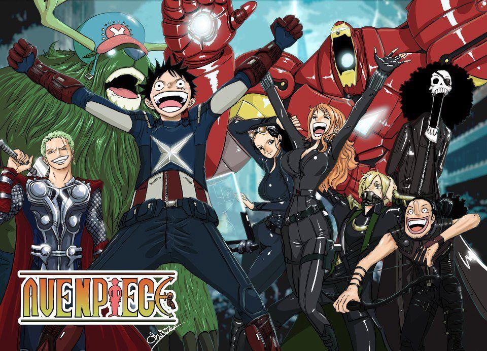 One Piece as the Avengers Anime/Manga Pinterest