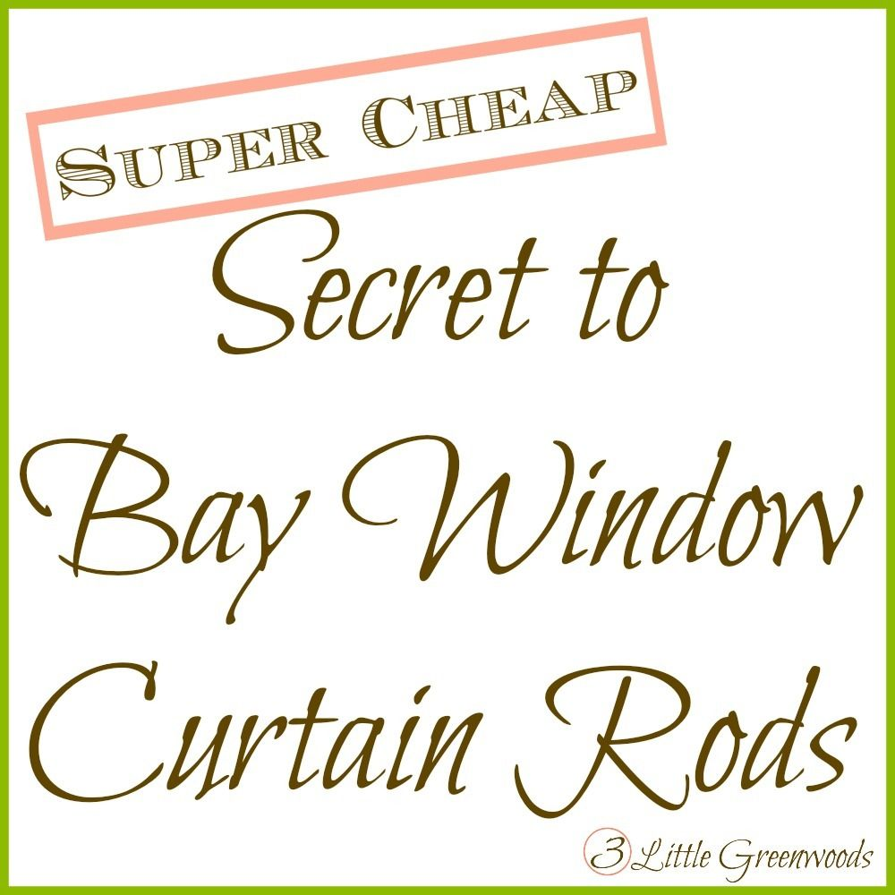 The Secret to DIY Bay Window Curtain Rods from | Bay ...