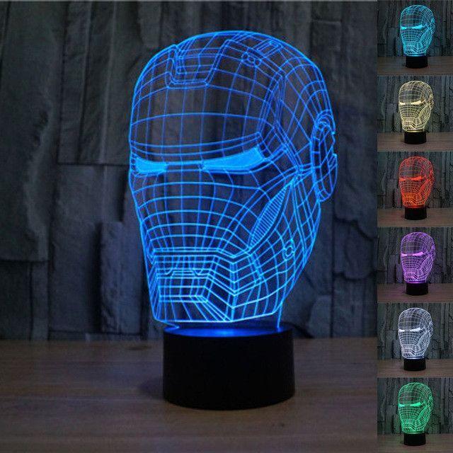 Iron Man 3D LED Light Lamp