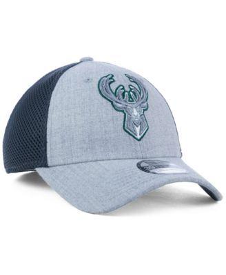 hot sale online 6ba88 cc01a New Era Milwaukee Bucks Heathered Neo Pop 39THIRTY Cap - Gray M L