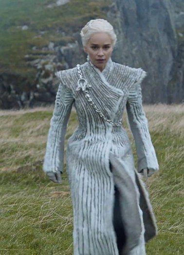 Image result for daenerys silver fur coat
