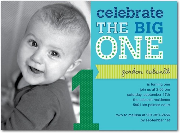First Birthday Invitations Baby Boy