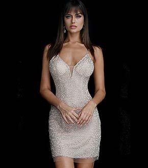 Black short fitted plunging neckline spaghetti strap velvet dress. 1677f0b7b