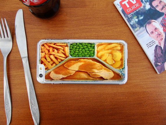 Retro Turkey and Gravy TV Dinner, Custom Phone Case for iPhone 4/4s, 5/5s, 6/6s, 6/6s+ and iPod Touch 5