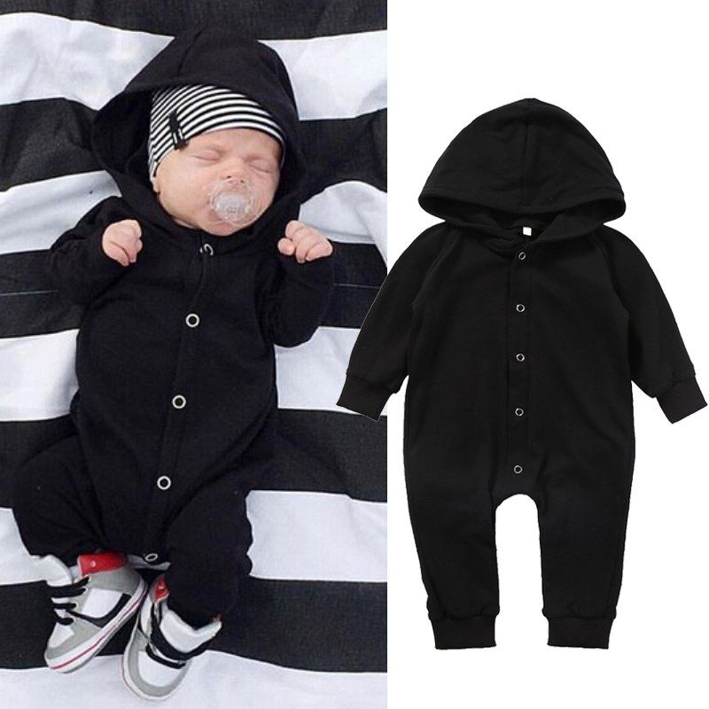 Toddler Infant Baby Boy Girl Kids Romper Jumpsuit Hooded Bodysuit Clothes Outfit