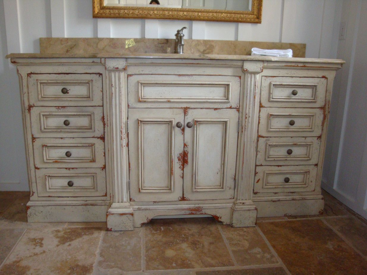 20 Distressed White Bathroom Cabinets Interior Paint Color Schemes Check More At Http 1 Distressed Bathroom Vanity Bathroom Vanity Designs Bathroom Vanity