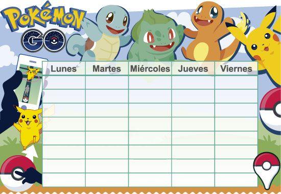 Horario escolar de Pokémon Go