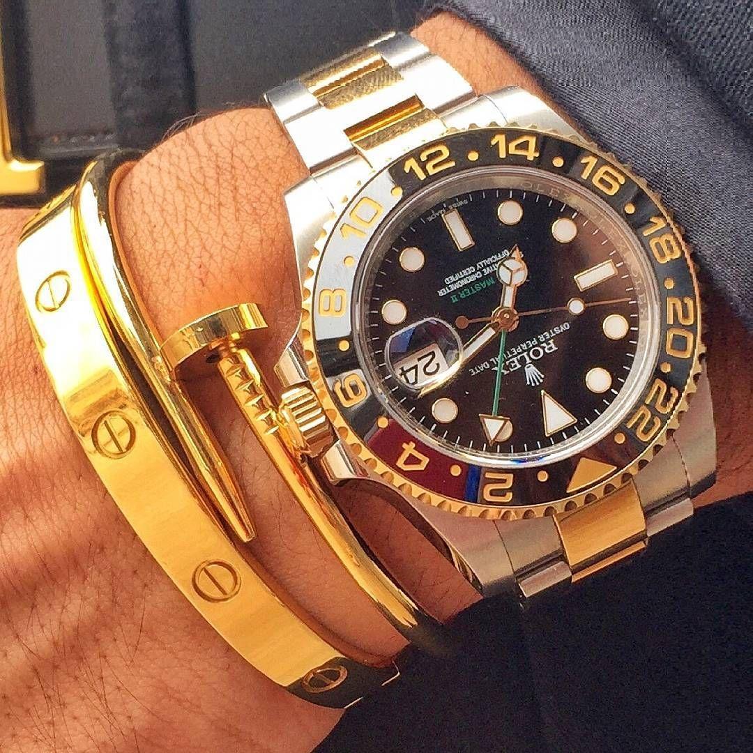 Luxuriousballer S Two Tone Rolex Gmt Master Ii Rolex Watch World