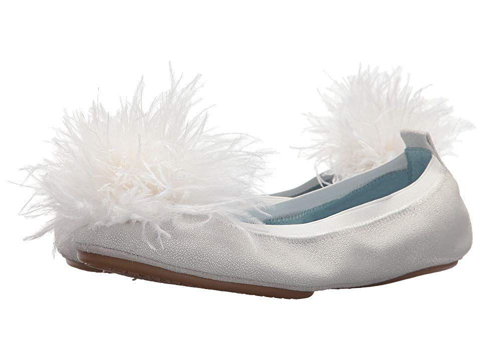Yosi Samra Womens Marry Me Marabou Ballet Flat