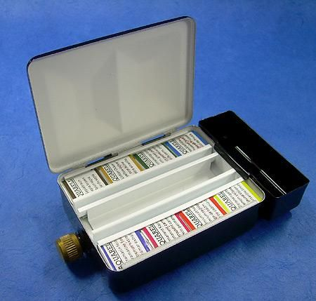 Schmincke Watercolor Travel Set Eight Half Pans In A Metal Travel
