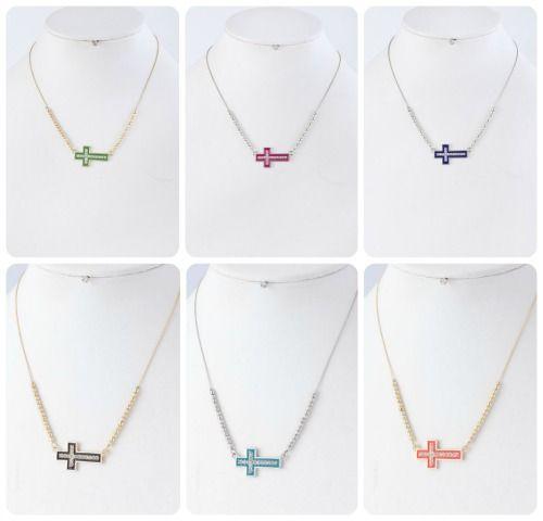 Colorful Sideways Cross, Multiple Colors, $16.00