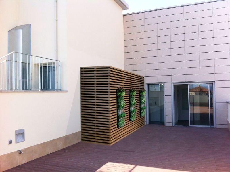 Armario caseta contenedor con ventana para terraza tico - Armario lavadora exterior ...