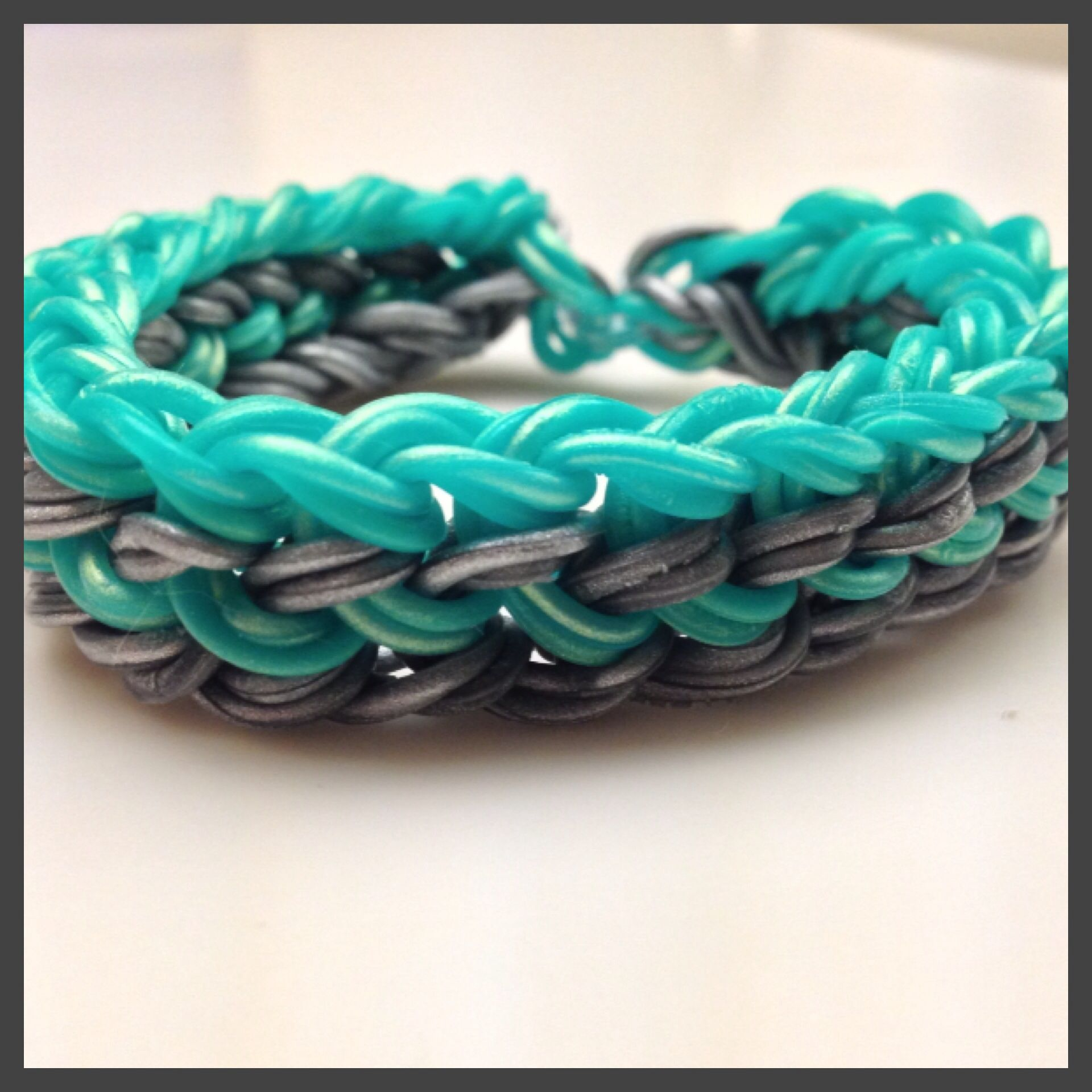 Useful Bands: 2 Segment Dragon Scale Rainbow Loom Bracelet. I Used