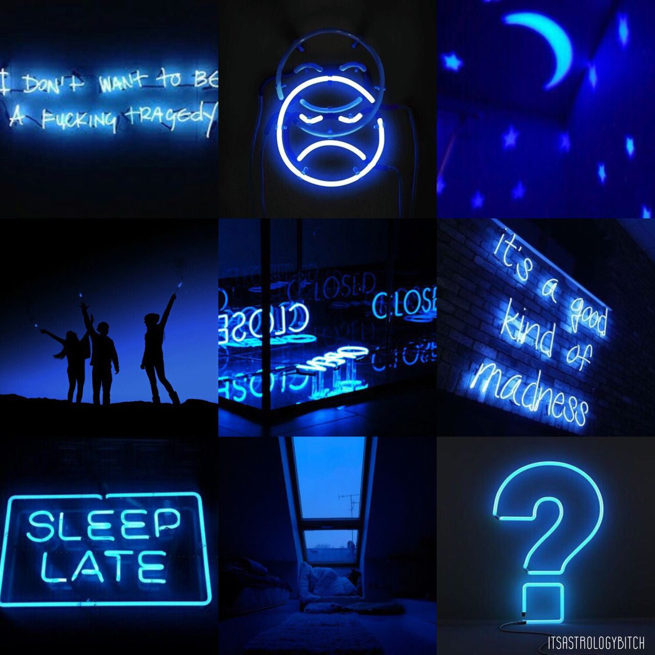 Blue Aesthetic Pictures Neon