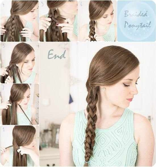 Cute Side Braid Amazing Summer Hairstyle Side Ponytail Hairstyles Chic Ponytail Two Ponytail Hairstyles