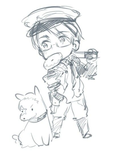 Hetalia - America being NYPD feat. Hero Dog and a doughnut