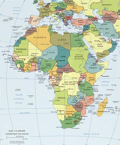 map of africa, europe, middle east | maps | Africa map, Africa, Map