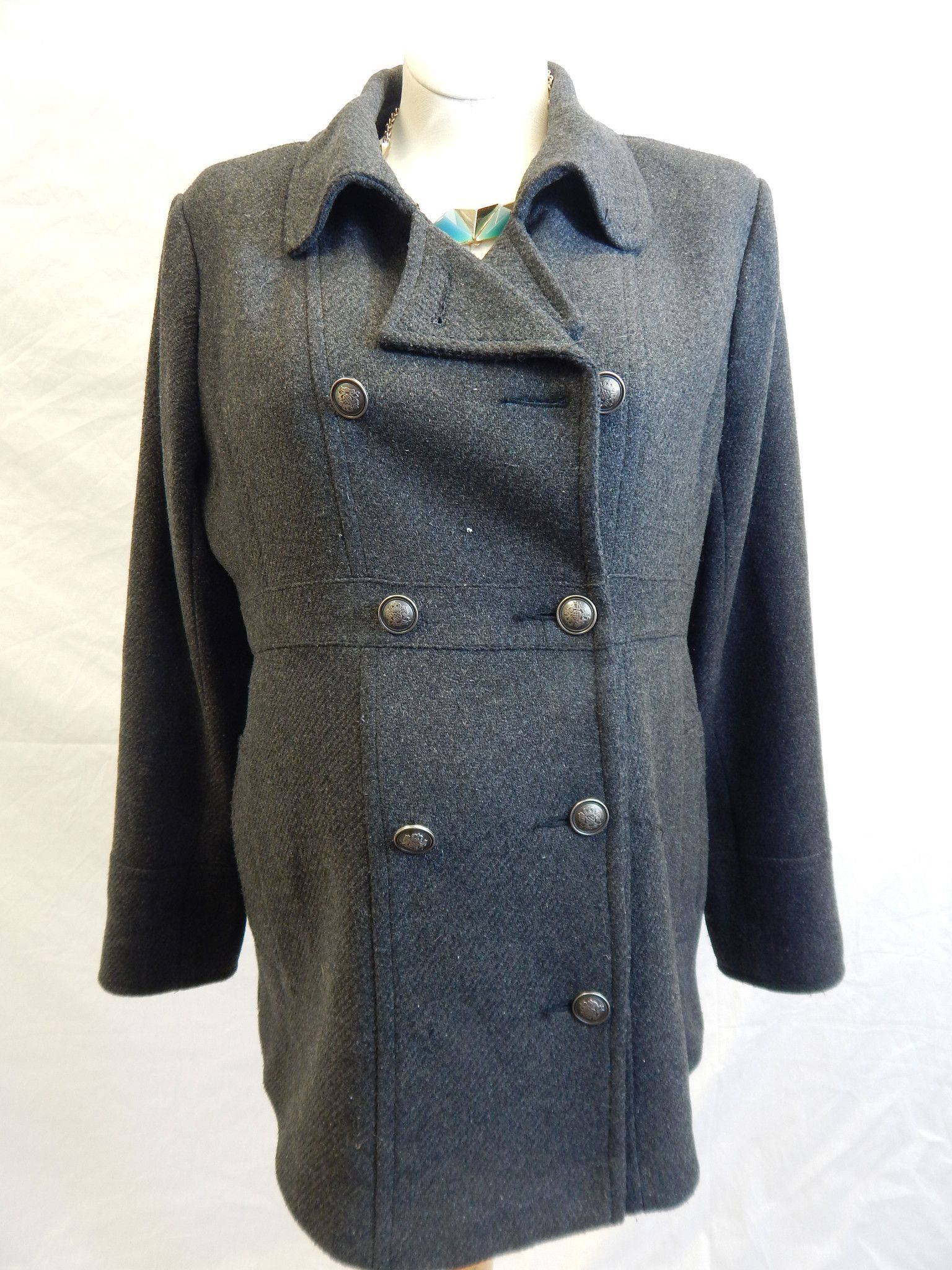 Grey LngSlv Coat-Large