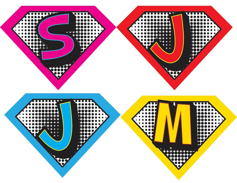 Superhero Symbols Printables