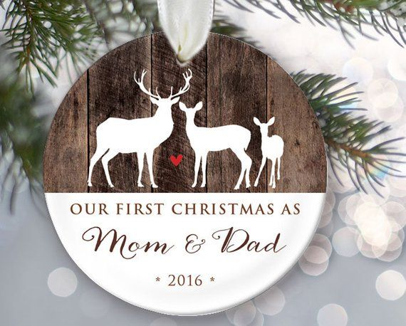 New Parent Ornament, Our First Christmas as Mommy & Daddy, Family Ornament,  New Mom Gift, New Dad Or - New Parent Ornament, Our First Christmas As Mommy & Daddy, Family