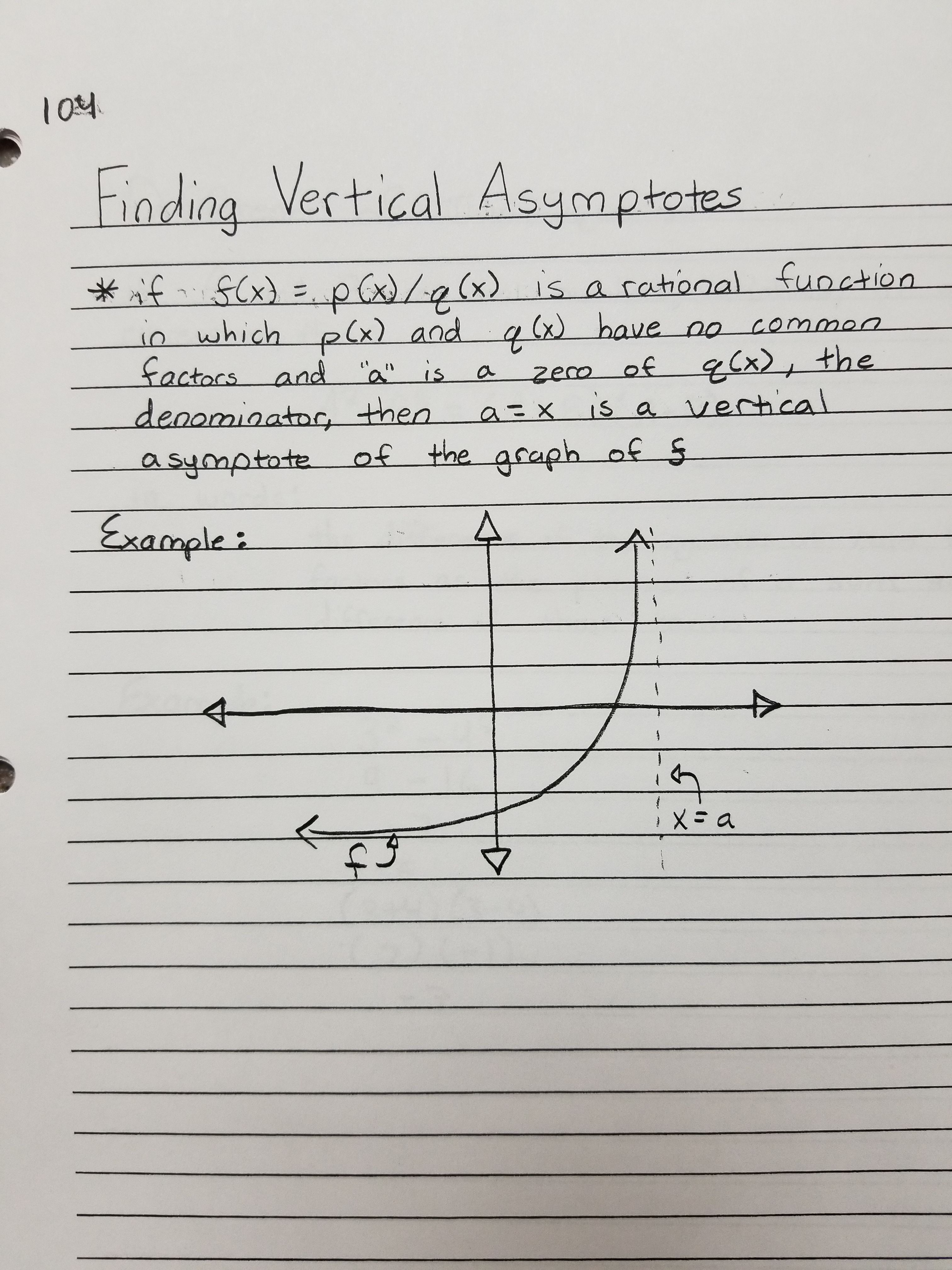 Finding Verticle Asymptotes