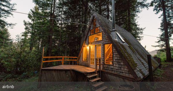 Waldgrundstück hausgewordener traum romantische waldhütte in kalifornien