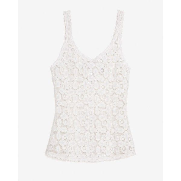 Exclusive for Intermix Zipper Back Lace Tank ($168) ❤ liked on Polyvore