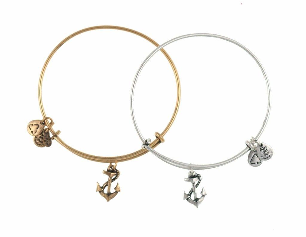 Alex Ani Anchor Charm Bracelets Wear My Gold All The Time Thank You Rachel