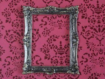 Small Antique Finish Solid Brass Frame