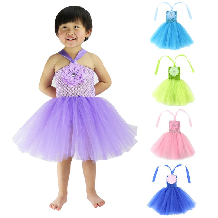 Baby Girls Clothes Wennikids Flower Crochet Top Girl Tutu Dress For ...