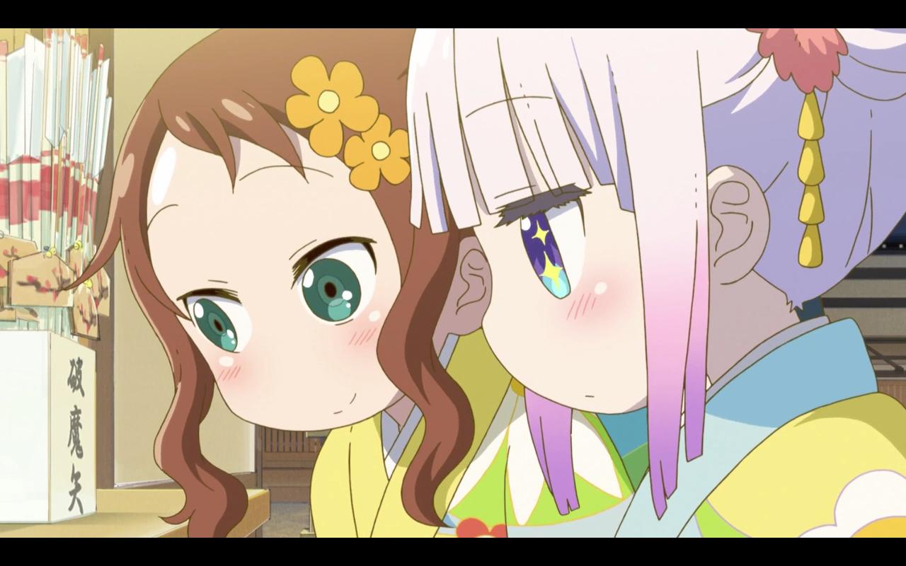 Kanna Kamui Riko Saikawa Kobayashi San Chi No Maid Dragon 1x11 Kobayashi San Chi No Maid Dragon Miss Kobayashi S Dragon Maid Anime