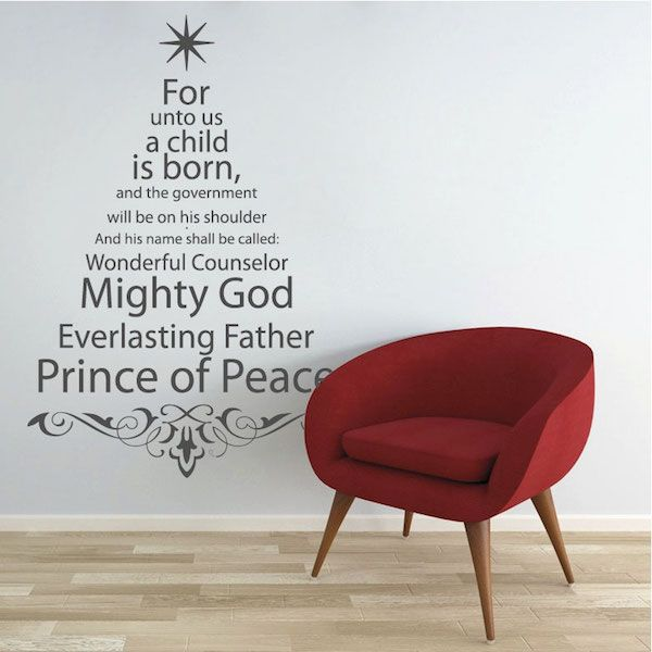 Spiritual Christmas Tree Wall Quote Spiritual and Christmas tree