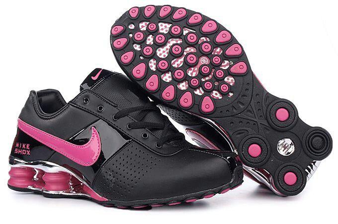 Black and hot pink Nike Shocks | Nike