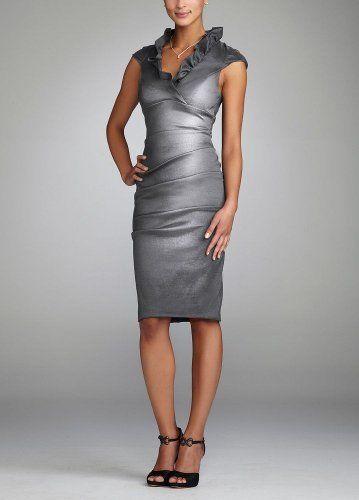 Ruched Stretch Taffeta Dress