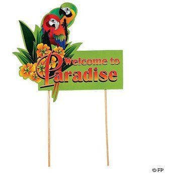 Cardboard Luau Parrot Yard Sign 1 Per Package By Fun Express 6 14 1 Per Package Luau Yard Signs Cardboard Luau Parrot Yard Sign 16 1 2 X 15 With Two