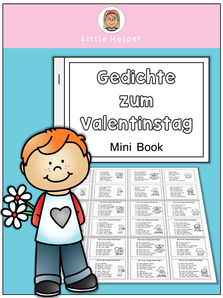 German Mini Book Gedichte Zum Valentinstag Tpt Misc