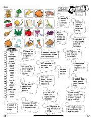 english worksheet riddle series 03 food fully editable key vegetables wsheet riddles. Black Bedroom Furniture Sets. Home Design Ideas