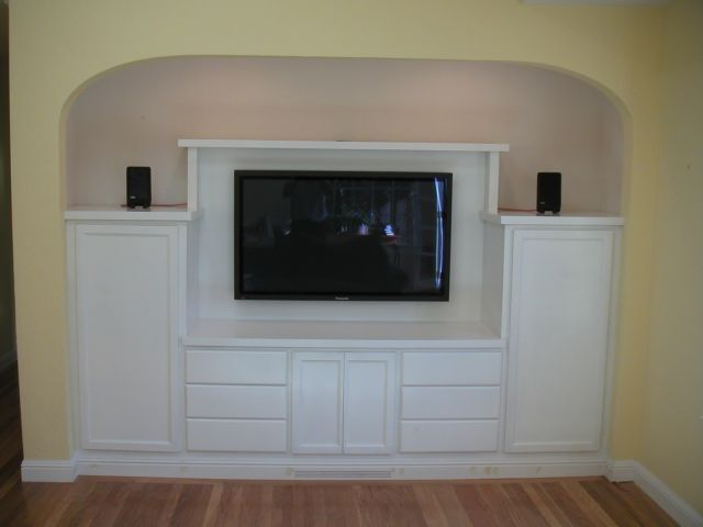 Exceptional Built In Tall Corner Media Cabinet | Custom Plasma/LCD TV Cabinet