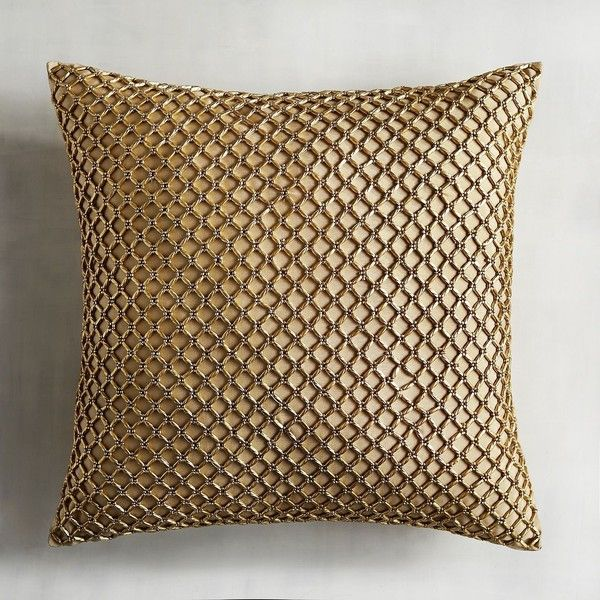 Pier 40 Imports Metallic Beads Pillow 40 Liked On Polyvore Magnificent Pier 1 Decorative Pillows