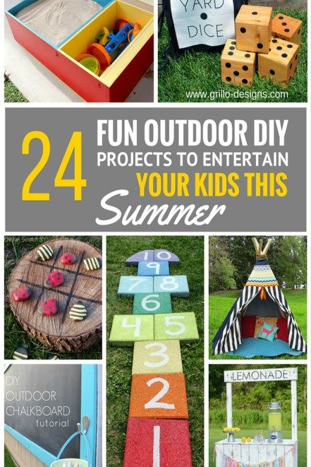 Fun summer outdoor DIY projects for the kids