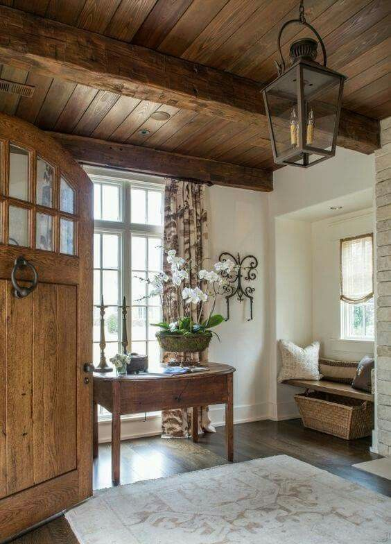 Country Home Interior Design: French Country Foyer Graceful Interiors; Fresh