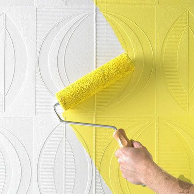 textured wall paper, yellow walls | - color - | Pinterest | Textured ...