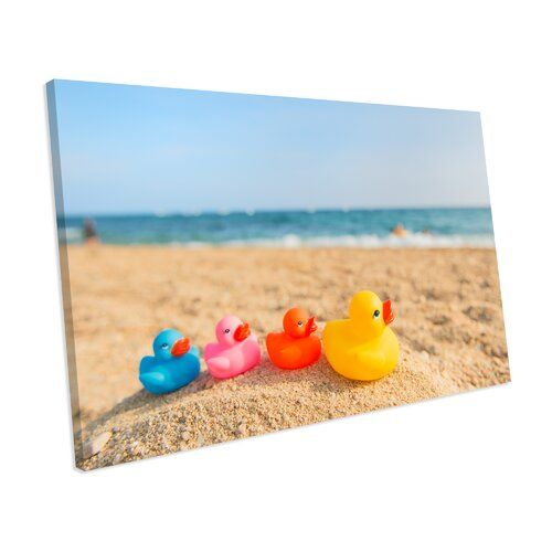 Photo of Leinwandbild Rubber Duck Bathroom Decor ModernMoments Größe: 78 cm H x 116 cm B