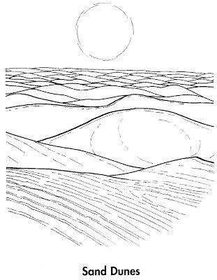Sand Dune Coloring Pages   fées lieux   Pinterest